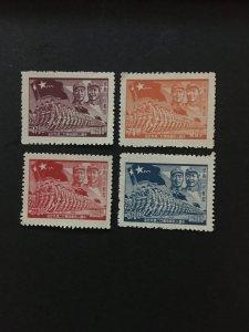 China stamp pair set, Genuine, unused, LIBERATED area,  List 1676