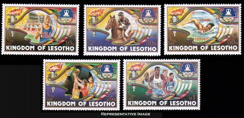 Lesotho Scott 439-443 Mint never hinged.