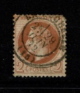 France SC# 31, Used, shallow small top thin - S1479