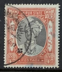 INDIA JAIPUR STATE 1932 3/4a SG58  USED.
