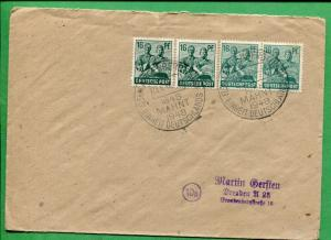 GERMANY COVER 1948 Interesting Cancel German Unity Stamped Address - FC243