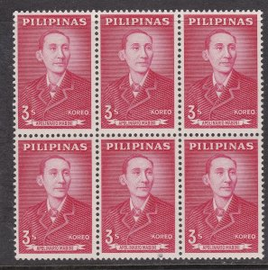 PHILIPPINES^^^^#855   MNH  BLOCK of 6  ( A.MABINI)  $$@dccc583phi3.