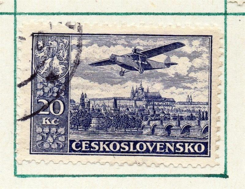 Czechoslovakia 1930 Air Early Issue Fine Used 20K. 230299