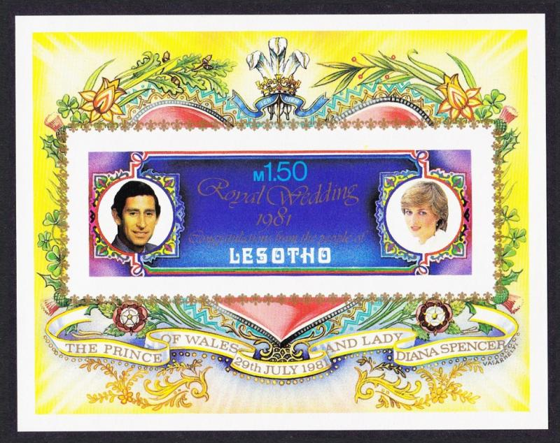 Lesotho Charles and Diana Royal Wedding MS imperf SG#MS454 SC#337A MI#Block 9B