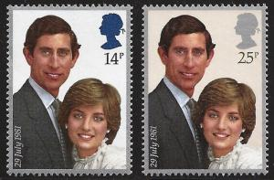 Great Britain Sc#950-951 Royal Wedding MNH
