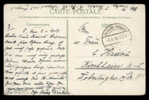 Germany 1918 WWI Turkey FPN663 Feldpost Cover 90407