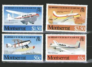 Montserrat 472-475 MNH