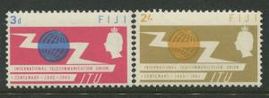 Fiji - Scott 211-212 - General Issue 1965 - MNH - Set of 2 Stamps