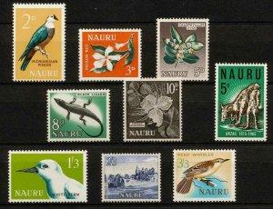 ✔️Nauru 1963 - 1965 MLH Scott 49 - 56 Birds Flowers Flora Fauna