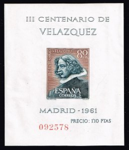 SPAIN STAMP 1961 The 300th Anniversary of the Death of Diego Rodriguez MNH S/S
