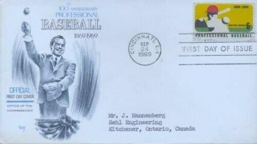 1381 6c PRO BASEBALL - Marg to Canada
