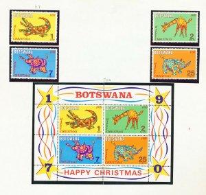 BOTSWANA - # 67-70 & 70a - VFMNH set & S/S - Christmas Toys