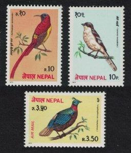 Nepal Shrike Pheasant Sunbird Birds 3v 1979 MNH SG#384-386