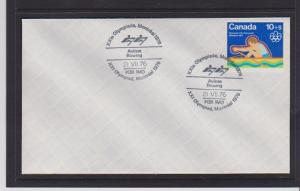 CANADA FDC 1976 OLYMPICS STAMPS #B5  LOT#PPJ53