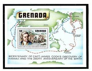 Grenada 899 MNH 1978 Capt Cook S/S  (KA)