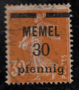 Memel Scott 21 Used 1922 Surcharged French  stamp