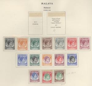Malaya Malacca 3-17 Mint F-VF H