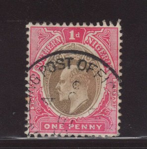 1904 Southern Nigeria 1d Travelling Post Office CDS Fine Used SG22
