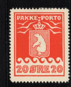 Greenland Q6a 1937 20 ore Polar Bear Parcel Post stamp mint LH