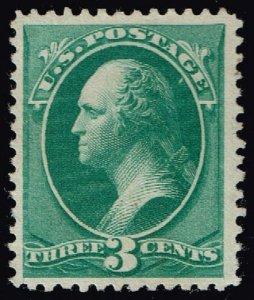 US #158 George Washington; Unused No Gum (3Stars)