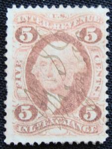 US #R27c Used Single, Revenue, George. Washington SCV $.50