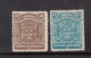 Rhodesia #61 & #62 VF Mint Duo