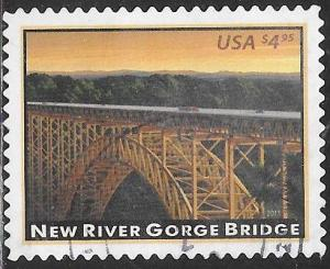 US 4511 Used - American Landmarks - New River Gorge Bridge - Priority $4.95