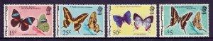 BELIZE — SCOTT 352a-359a — 1975-77 BUTTERFLIES UPRIGHT WMK. 314  — MNH — SCV $27