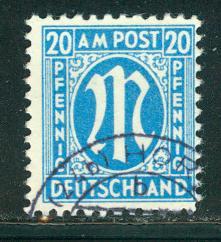 Germany AM Post Scott # 3N11, used
