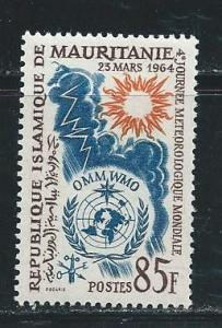 Mauritania  175 1964 WMO Day single MLH