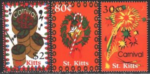 Saint Kitts and Nevis. 2001. from the series 658-60. Christmas. MNH.