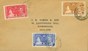 Bechuanaland Protectorate KGVI coronation cover to England (not FDC) with Maf FU