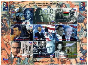Chad 28.08.2008 Obama-Kennedy Sheet Perforated Fine Used CTO