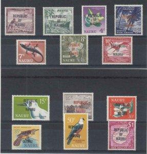 NAURU (MM210) # 73-85 VF-MNH  VARc,$ 1968 # 58-71 TYPES W O/PRINT REPUBLIC
