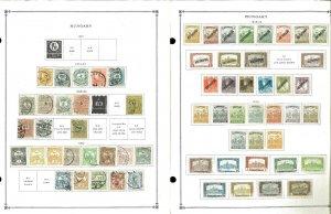 Hungary 1874-1979 M, U & CTO Hinged on Scott International Pages