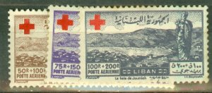 P: Lebanon CB5-9 mint some toned perfs CV $145; scan shows only a few