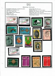 Italy Lot of 38 Stamps - Used