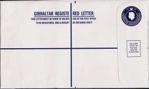 Gibraltar. Registered Envelope(£1.05) Unused