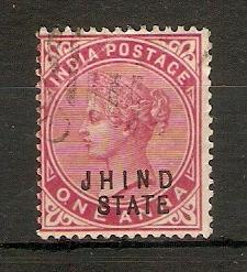 INDIA - JHIND 1902 1a SG 40 FINE USED
