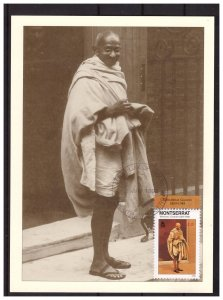 MONTSERRAT 1998 M.Gandhi MAXIMUM Card