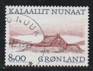 Greenland Sc 354 1999 8.00 kr Church stamp used