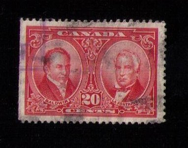 Canada  Sc148 Used BALDWIN & LAFONTAINE VF