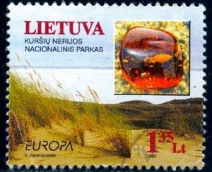 Curonian Spit Natl. Park, Sand Dunes amber, Lithuania SC#629