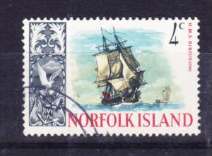 NORFOLK ISLAND 1967 Ships 4c Supply used