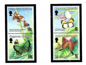 Cayman Is 686-87 MNH 1994 Butterflies