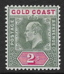 GOLD COAST SG45 1902 2/= GREEN & CARMINE MTD MINT