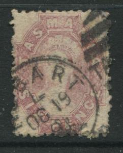 Tasmania 1864 6d red lilac used