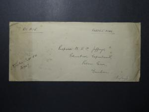India 1946 Forces Cover to UK / S.E.A.T.I.C. Backstamp - Z12376