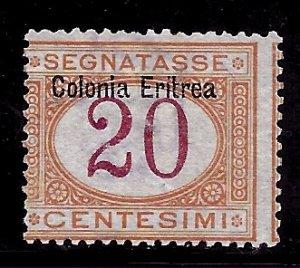 Eritrea # J3, Mint No Gum. CV $ 16.00