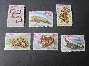 Nicaragua 1982 Sc 1195-7,C34-6 FU